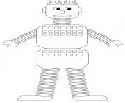 old style robot dessin à colorier