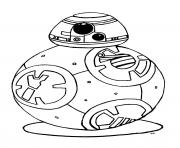 bb 8 star wars 7 reveil de la force robot bb8 dessin à colorier