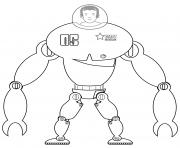 mobilite amplifie platforme de robot pour humain dessin à colorier
