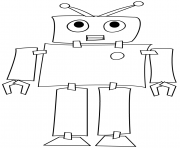 Coloriage robot machine programme par un ordinateur