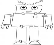 robot machine programme par un ordinateur dessin à colorier
