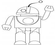 robot te dit bonjour dessin à colorier