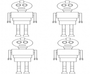 Coloriage robots pattern toy