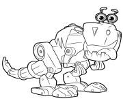 Cute Robot from Rusty Rivets Robot Dinosaur dessin à colorier