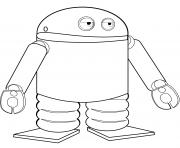 android robot dessin à colorier
