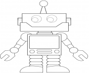 Coloriage cartoon robot