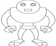robot terminator dessin à colorier