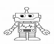 Coloriage robot enfant simple