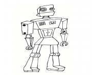 robot ancien debout dessin à colorier
