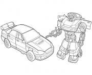 Coloriage robot car poli