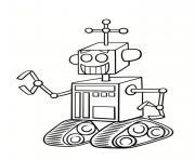 robot transporteur dessin à colorier