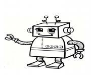 robot bebe petit enfant dessin à colorier