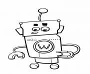 robot multifonction inquiet dessin à colorier