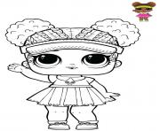 Coloriage Court Champ Lol doll Athletic Club series 2 Glam Glitter