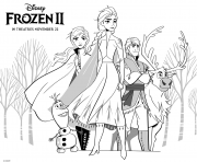 Coloriage Frozen 2 Princess Girls
