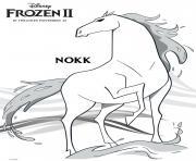 Nokk Horse from Frozen IIs dessin à colorier