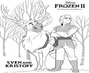 Sven and Kristoff from Frozen 2 dessin à colorier