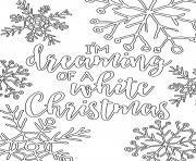 Coloriage white christmas adult dreaming