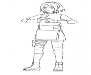 Sakura Uchiha is a kunoichi of Konohagakure Haruno dessin à colorier