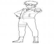 Kiba Inuzuka is a member of Konohagakures Inuzuka clan dessin à colorier