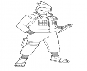 Coloriage Shikamaru Nara is a shinobi of Konohagakures Nara clan
