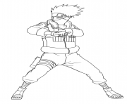 Coloriage Hatake Kakashi is a shinobi of Konohagakures Hatake clan