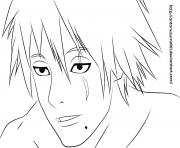 kakashi sin mascara dessin à colorier