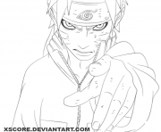 Coloriage naruto demon dessin