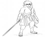 sasuke uchiha from naruto dessin à colorier