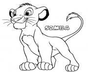Le petit Lion Simba dessin à colorier
