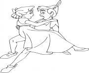 peter pan et wendy dessin à colorier