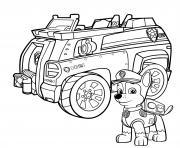 camion de police pat patrouille chase et son camion dessin à colorier