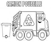 camion poubelle dessin à colorier