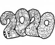 Coloriage New Year 2 dessin