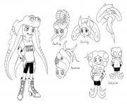 Splatoon Characters Marie dessin à colorier