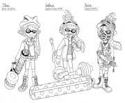 splatoon 2 inklings watase scino dessin à colorier
