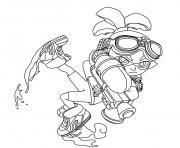 Splatoon Inkling Boy dessin à colorier
