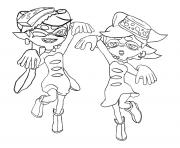 Coloriage Splatoon Squid Sisters Dessin