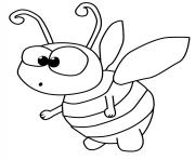abeille petit bebe dessin à colorier