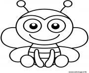 souriante et belle abeille maternelle dessin à colorier