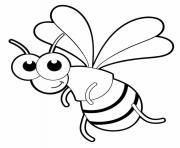 Coloriage abeille consommation de pollen et de nectar dessin
