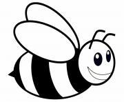 abeille insecte en plein vol dessin à colorier