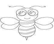 Coloriage abeille kawaii
