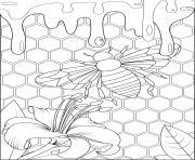 Coloriage la reine abeille sociale dessin