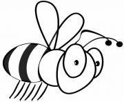 petite abeille dessin à colorier