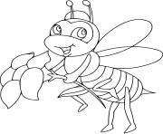 la reine abeille sociale dessin à colorier