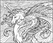 cheval licorne pour fille 10 ans et 12 ans dessin à colorier