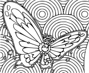 Coloriage pokemon gigamax papilusion