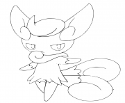 Coloriage mistigrix pokemon version femelle
