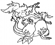 pokemon gigamax dracaufeu dessin à colorier